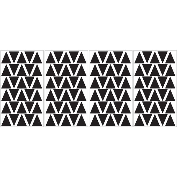 Trousse d'art mural triangle noir MiniPops, WallPops
