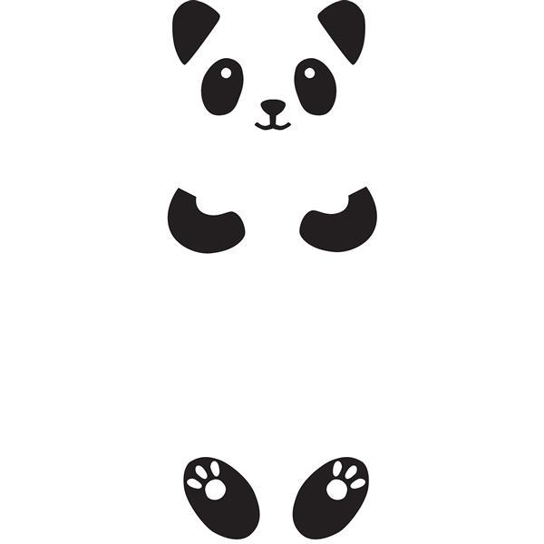 WallPops Lucy the Panda Door Decal