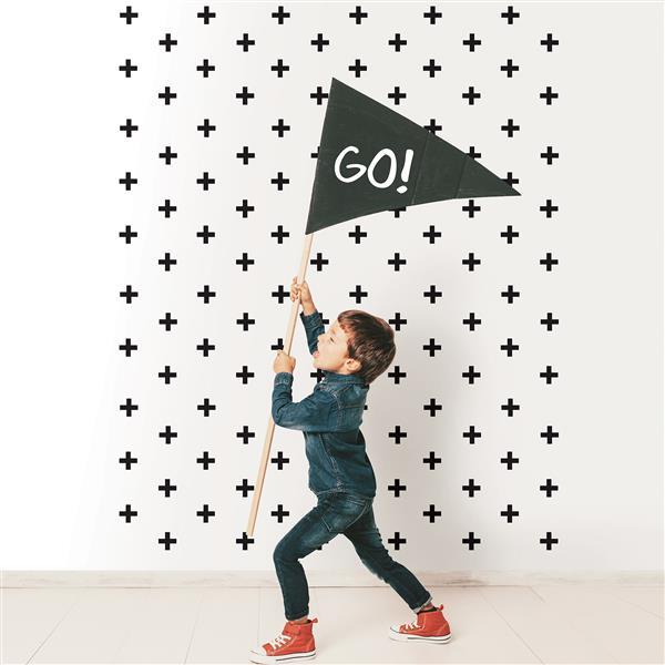 Trousse d'art mural Croix Suisse MiniPops, WallPops