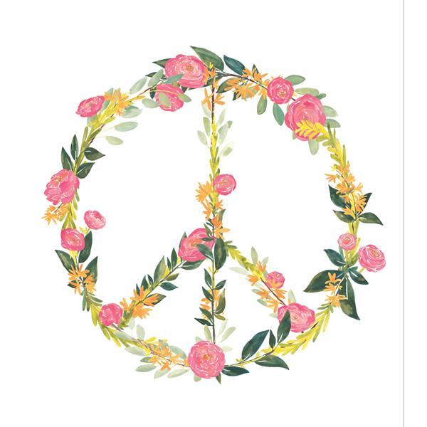Trousse d'art mural de paix, WallPops