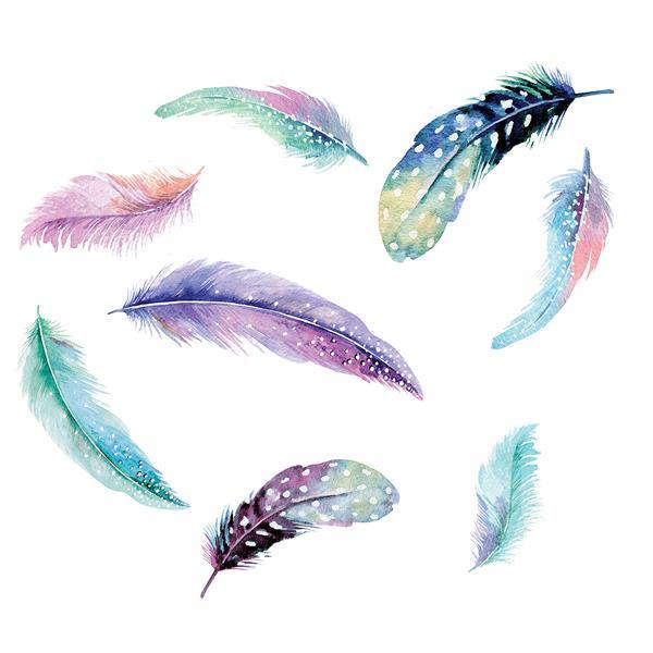 WallPops Celestial Feathers Wall Art Kit