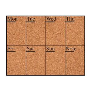 WallPops Week Days Cork Pin Board Decal