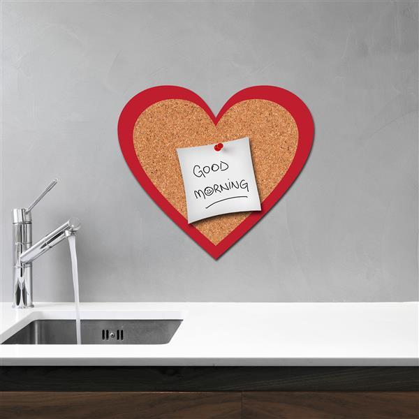 Trousse d'appliqué mural WallPops, coeur en liège