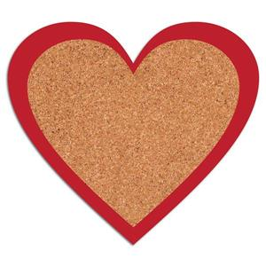WallPops Heart Cork Pin Board Decal
