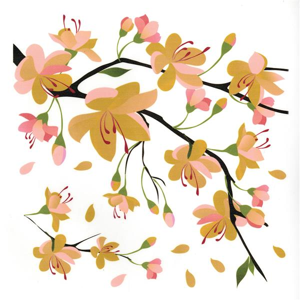 WallPops Yellow Branch Wall Decal