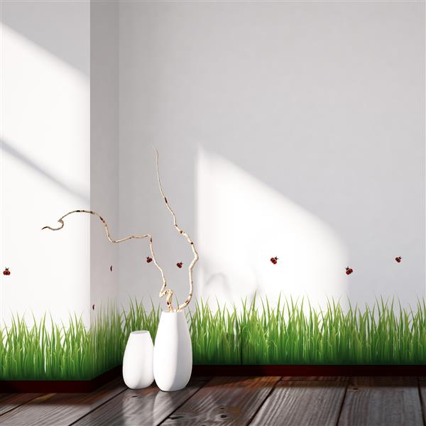 WallPops Grass and Ladybugs Border Decal