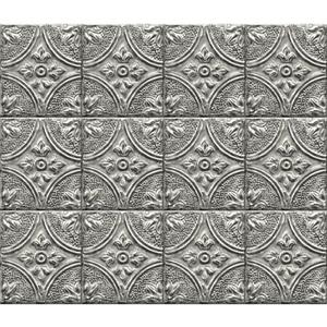 Brewster Wallcovering Tin Tile Backsplash - Silver