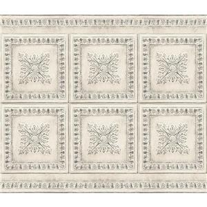 Brewster Wallcovering Vintage Tin Backsplash - Cream