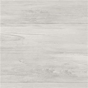 Papier peint de planches de bois, gris