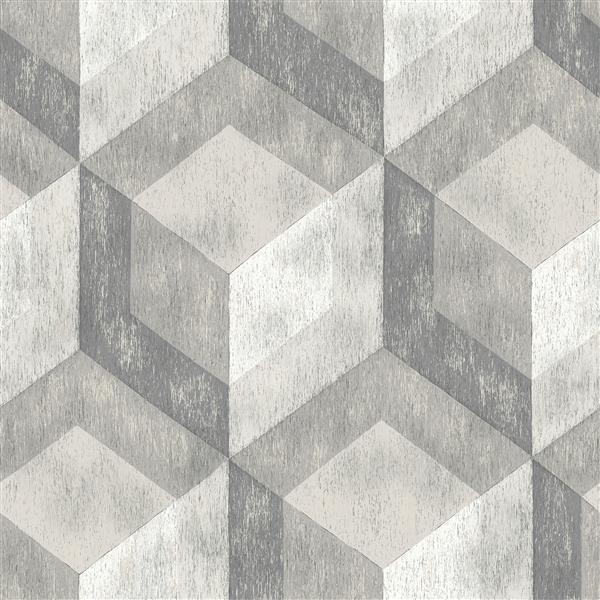 Papier peint en bois patiné Bauhaus