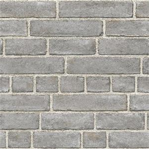 NuWallpaper Brick Façade Wallpaper - Grey