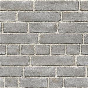 Papier peint de façade en brique, gris