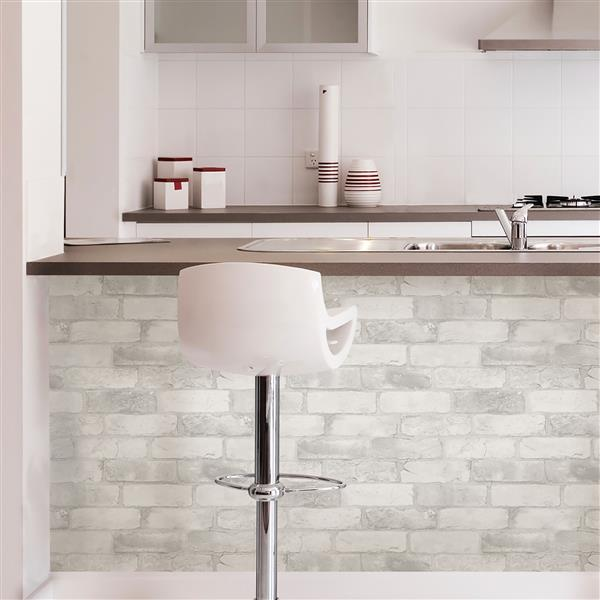 Brick Wallpaper - White
