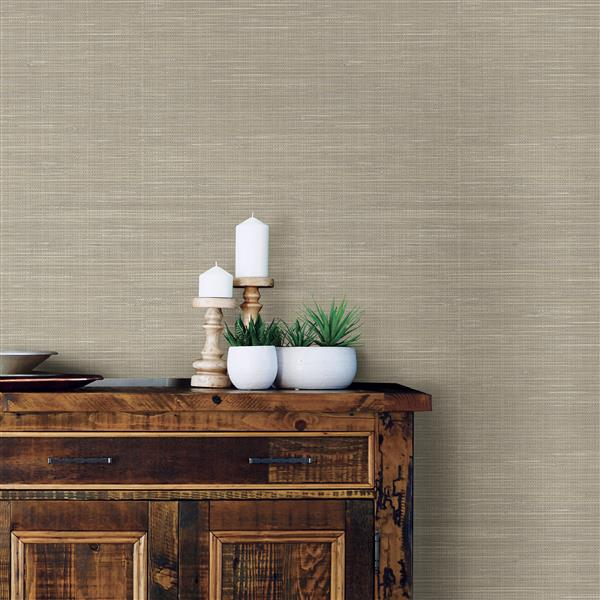 NuWallpaper Wheat Grasscloth Wallpaper
