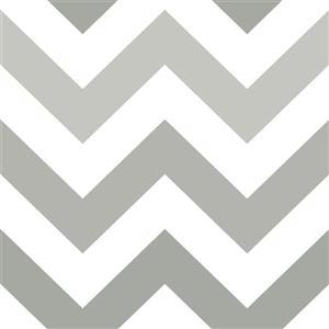 Zig Zag Wallpaper - Grey