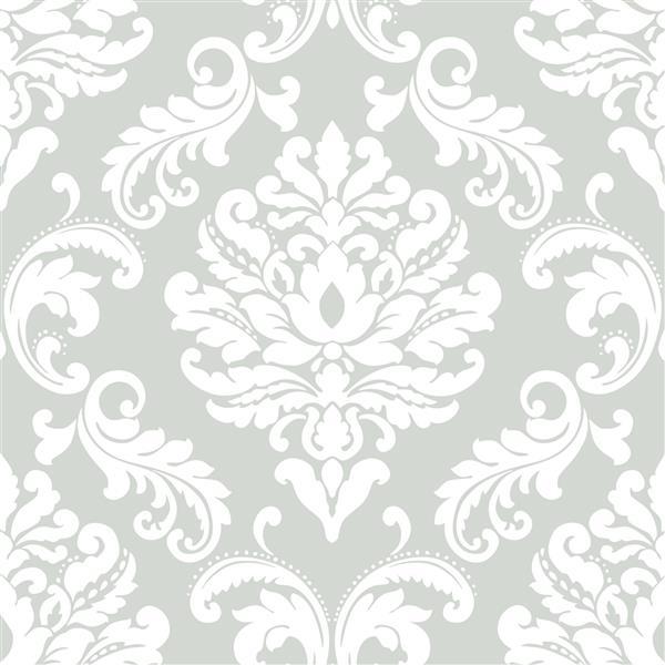 Papier peint Ariel, gris
