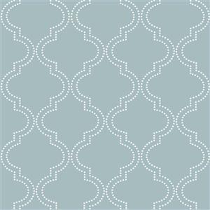 Slate Quatrefoil Wallpaper  Blue