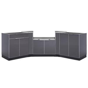 Outdoor Kitchen Aluminum 5 Piece Set