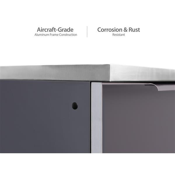Armoires cuisine extérieure gris ardoise, Comptoir, 7 Pièces