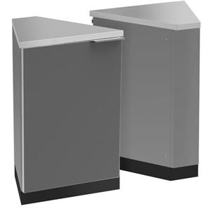 NewAge Products Outdoor Kitchen 45 Degree Corner Cabinets Grey Set of 2