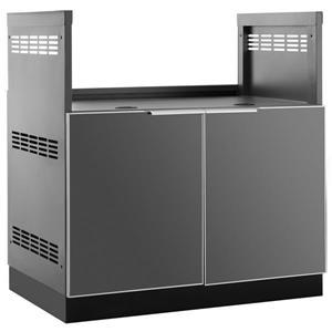 Armoire de cuisine extérieur avec gril encastré , Gris, 33