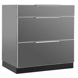 NewAge Products  Outdoor Kitchen 3 Drawer Cabinet in Slate Grey