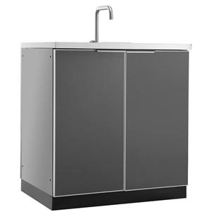 Outdoor Kitchen Sink Cabinet in Slate Gray
