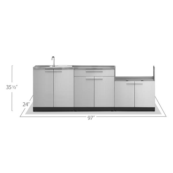 NewAge Products Outdoor Kitchen Stainless Steel 3 Piece Set