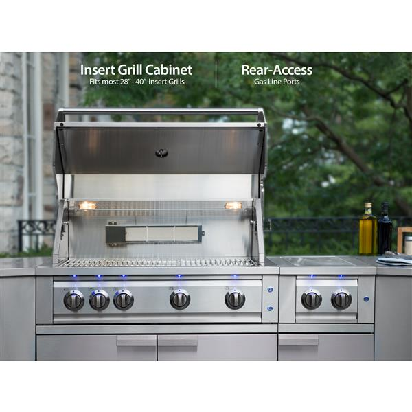 NewAge Products Outdoor Kitchen Stainless Steel 4 Piece Set