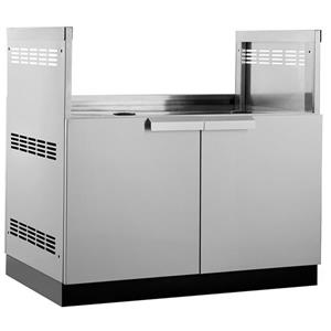 NewAge Products Outdoor Kitchen Insert Grill Cabinet Stainless Steel 40-in