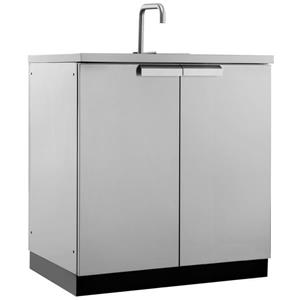 Outdoor Kitchen Sink Cabinet in Stainless Steel