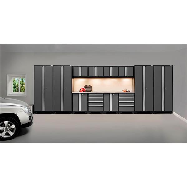 Armoires pour garage Série Bold3.0 Gris, 14pièces