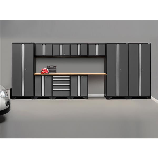 Armoires de garage Série Bold3.0 Gris, 12pièces