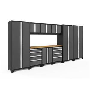 Armoires de garage Série Bold3.0 Gris, 10pièces