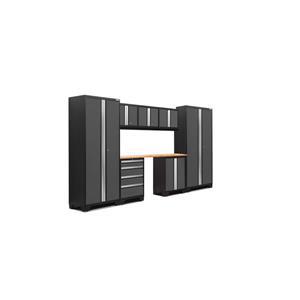Armoires de garage Série Bold3.0 Gris, 8pièces