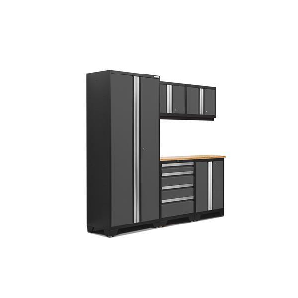 Armoires de garage Série Bold3.0 Gris, 6pièces