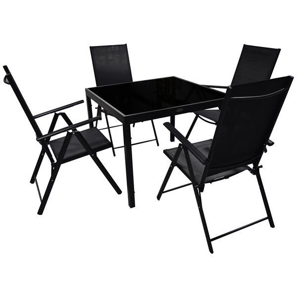 Corriveau Phoenix 5 pc Black Outdoor Dining Set