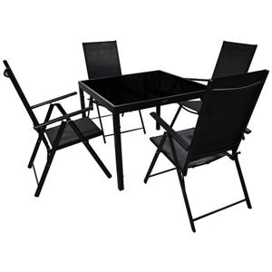 Corriveau Phoenix 5 pc Black Outdoor Dining Set
