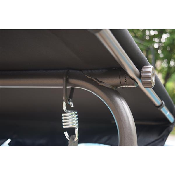 Corriveau Promo 67.5-in x 53-in x 42-in Gray Two Seater Swing