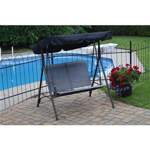 Corriveau Promo 67.5-in x 53-in x 42-in Gray Two Seater Swing
