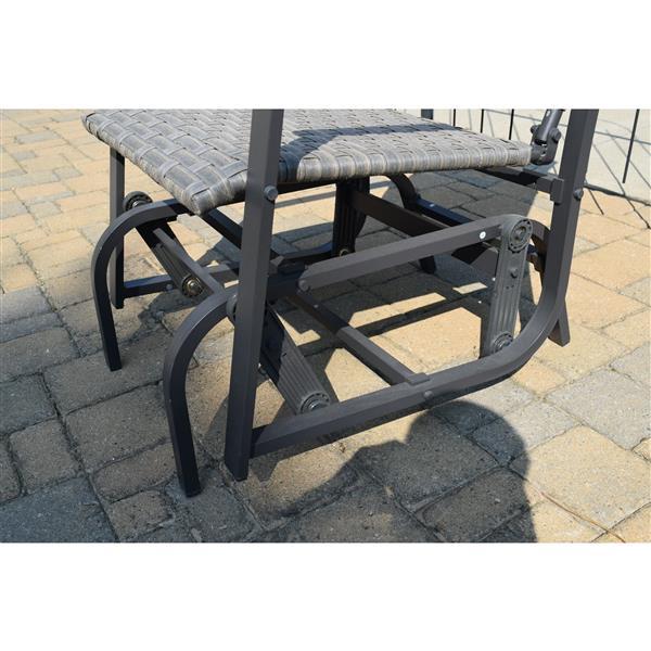 Chaise à billes en rotin pour l'extérieur, Gris