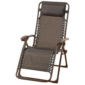 Corriveau 43.5-in x 25.5-in x 33-in Brow Steel Multi Position Zero Gravity Lounge Chaise