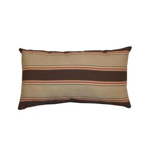 Bozanto 16.5-in Brown Striped Rectangular Outdoor Toss Cushion