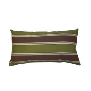 Bozanto 16.5-in Rectangular Green with Brown Stripe Outdoor Toss Cushion