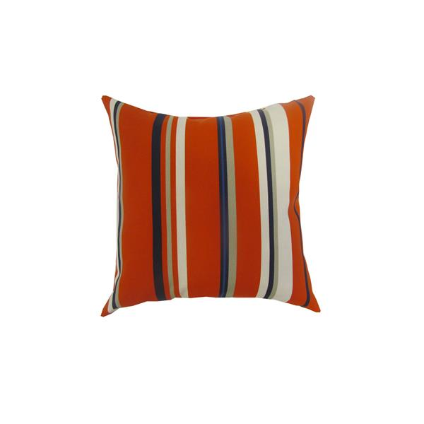 Bozanto 16-in Red Striped Square Outdoor Toss Cushion