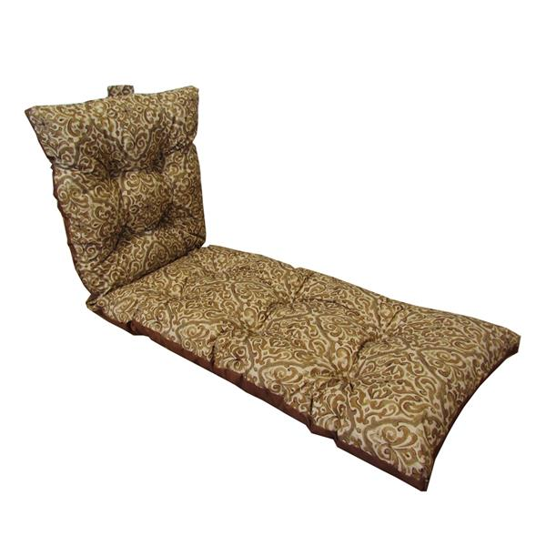Bozanto 70-in Brown Floral Reversible Lounge Cushion