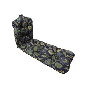 "Coussin de chaise longue Bozanto, Fleuri bleu foncé, 70"""