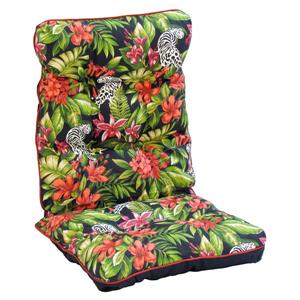 Bozanto Black Floral Reversible Outdoor Highback Cushion