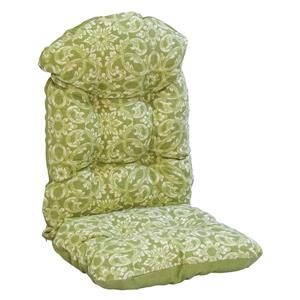 Bozanto Green Floral Reversible Outdoor Highback Cushion