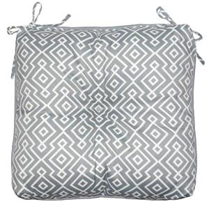Bozanto 18-in Grey Geometric Outdoor Seat Cushion